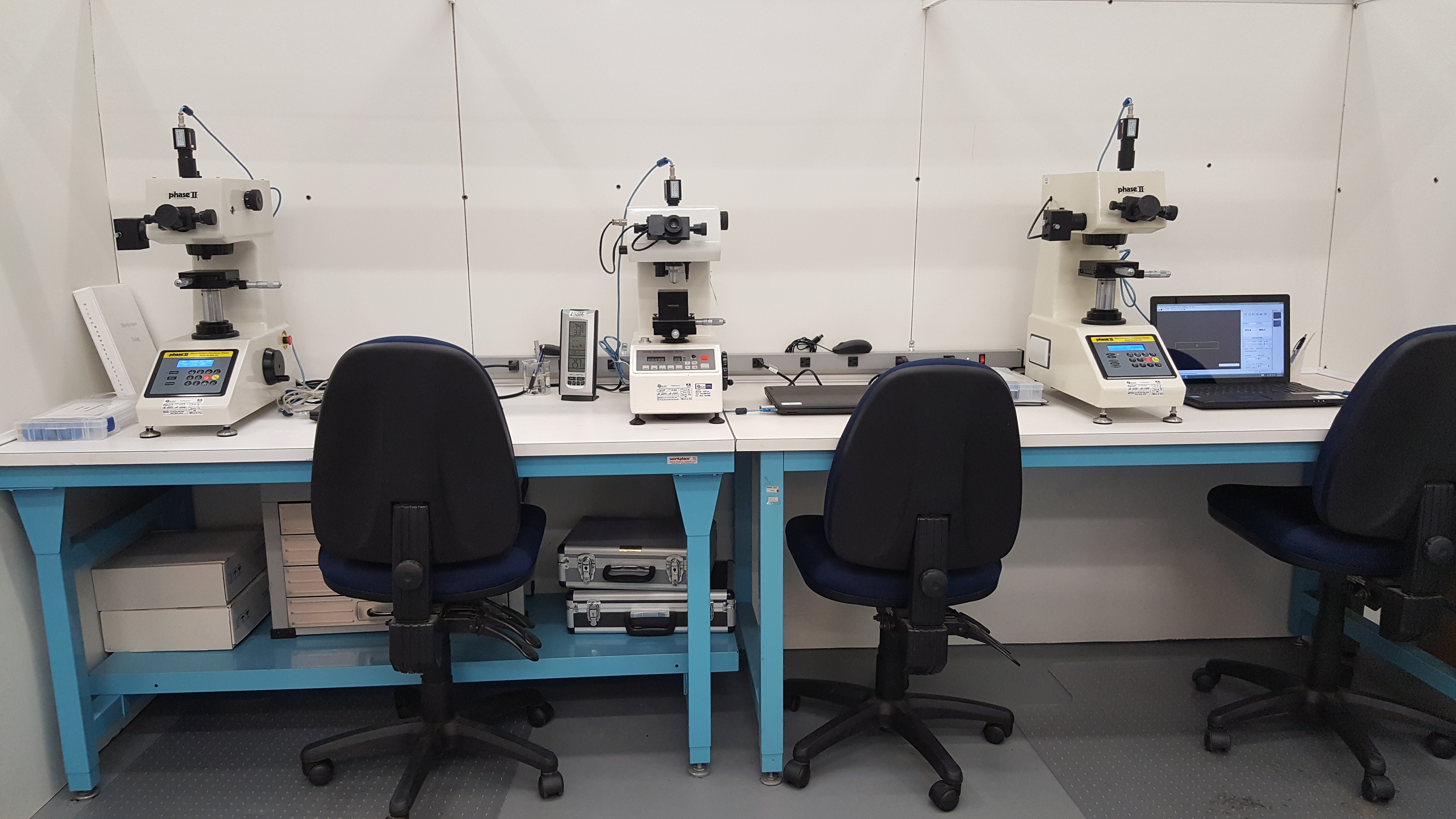 SMS Microhardness Testing Station